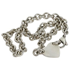 Sterling Silver Tiffany & Co. Return To Tiffany Heart Chain Necklace