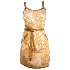 Chanel Runway Beige & Gold Tone Brocade 2013 Cruise Versailles Collection Dress