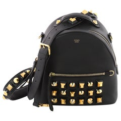 Fendi By The Way Backpack Crossbody Studded Leather Mini