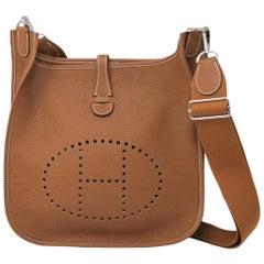 Hermes Evelyne III 29 Taurillon Clemence Gold Handbag in Box