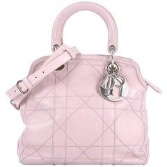 Christian Dior Granville Satchel Cannage Quilt Leather Medium