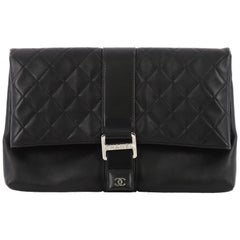 Chanel Grip Clutch Quilted Lambskin