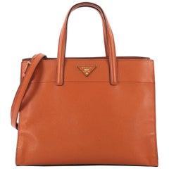 Prada Soft Triple Pocket Convertible Tote Saffiano Leather,