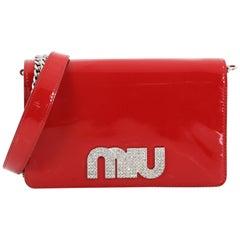 Miu Miu My Logo Chain Wallet Patent