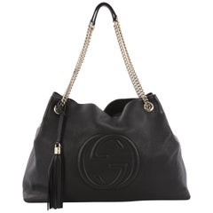 Gucci Soho Chain Strap Shoulder Bag Leather Large