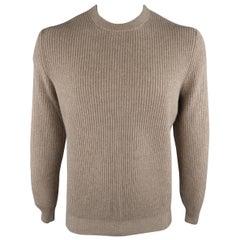 BRUNELLO CUCINELLI Size 46 Ribbed Knit Cashmere Sweater