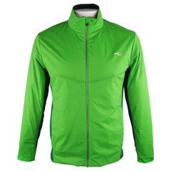 KJUS 42 Green Solid Polyamide Jacket