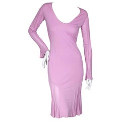 Long Sleeve Rose Pink Peasant Dress by Tom Ford, early 2000s