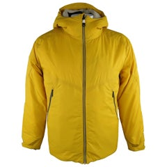 KJUS 42 Yellow Solid Polyamide Hooded Jacket