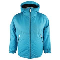 KJUS 42 Aqua Solid Polyamide Hooded Coat Jacket