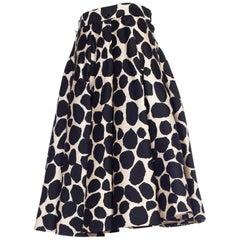1950s Silk Lined Norman Norell Silk Circle Skirt