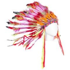 1960s Las Vegas Showgirl Native American Headdress from the Sands Casino