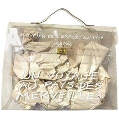 Vintage Hermes transparent clear vinyl Kelly bag, Japan limited Edition. Rare.