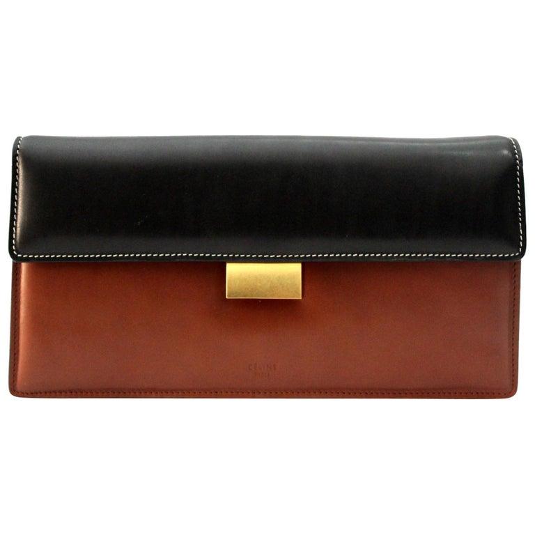 eccf9b7082fd HomeFashionHandbags and PursesClutches. Celine Bicolor Clasp Box Clutch For  Sale