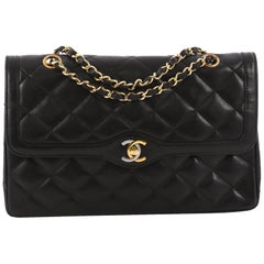 Chanel Vintage Two-Tone CC Flap Bag Quilted Lambskin Medium