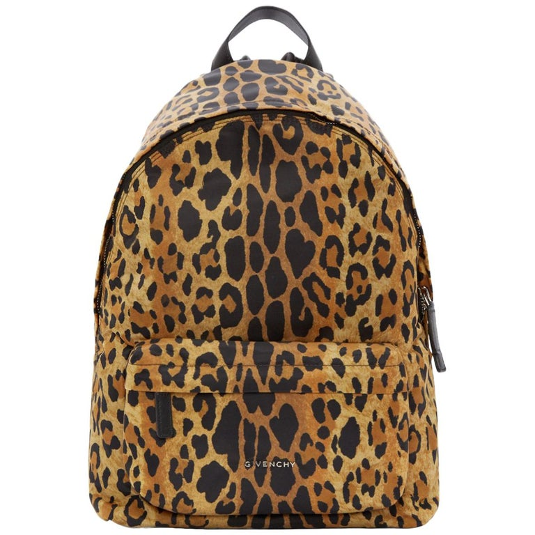 Givenchy Leopard-Print Nylon Backpack