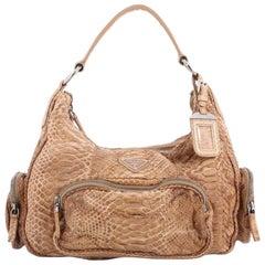 Prada Pocket Shoulder Bag Python Medium