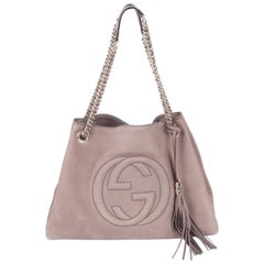 Gucci Medium Soho Tote Bag - taupe suede