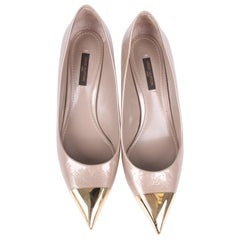 Louis Vuitton Monogram Patent Leather Shoes - taupe