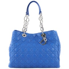 Christian Dior Soft Chain Tote Cannage Quilt Lambskin Large