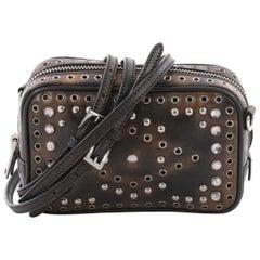 Prada Zip Crossbody Bag Studded Vitello Vintage Mini