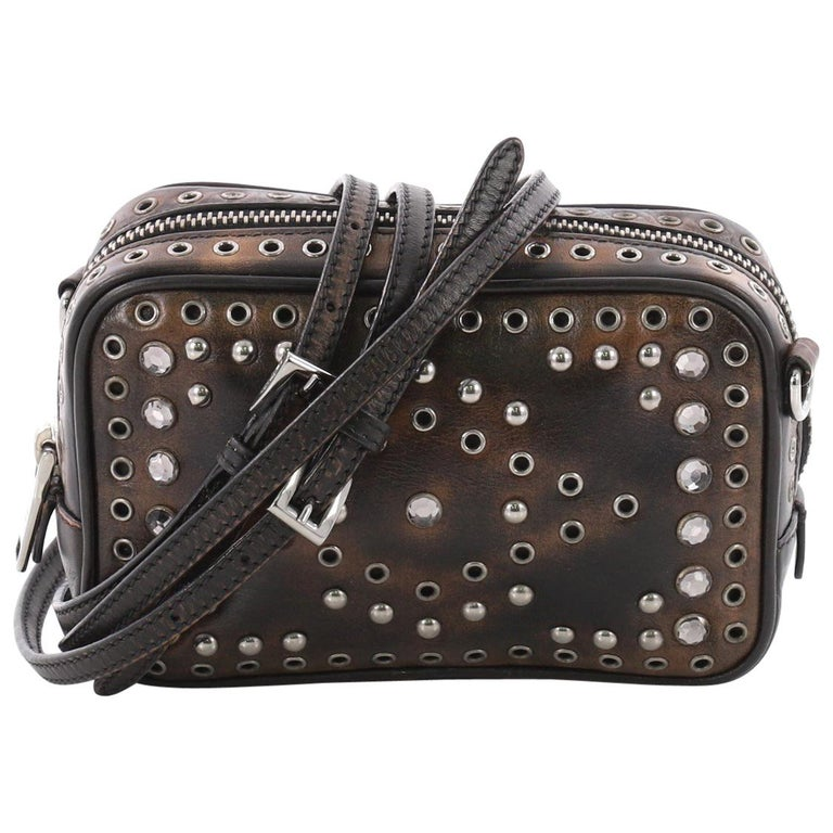 4d15139e1cca81 Prada Zip Crossbody Bag Studded Vitello Vintage Mini at 1stdibs