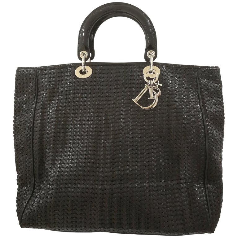 Dior Black Patent Leather Bag For