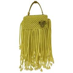 Emilio Pucci Yellow Fringes Shoulder Bag