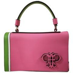Emilio Pucci Pink Leather Shoulder Bag