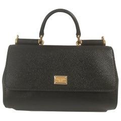 Dolce & Gabbana Black Leather Shoulder Bag NWOT