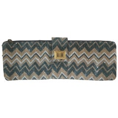 L'Aura Multicoloured Maxi clutch Handle Bag