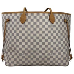 Louis Vuitton Damier Azur Neverfull GM Tote Shoulder Handbag