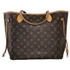 Louis Vuitton Monogram Neverfull MM Tote Shoulder Handbag