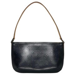 Louis Vuitton Matte Vernis Fowler in Blue Shoulder Handbag