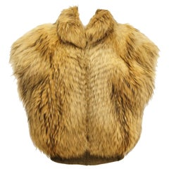 1980s Golden Brown Fur Puffer Vest