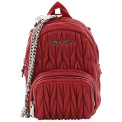 Miu Miu Backpack Crossbody Bag Matelasse Leather Micro