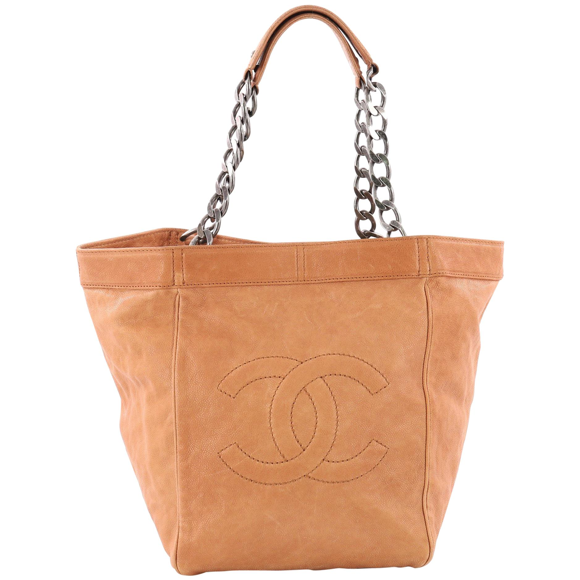 738cd0a5ffdd Chanel CC Chain Tote Caviar Large at 1stdibs