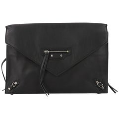 Balenciaga Papier Sight Clutch Classic Studs Leather