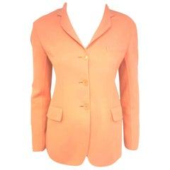 Jil Sander Pink Salmon Cashmere Jacket