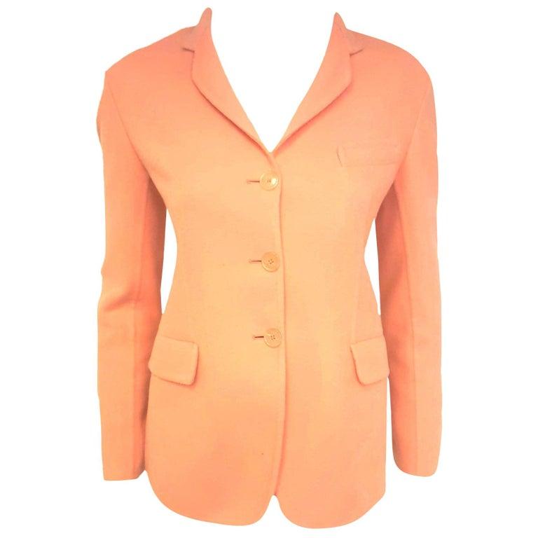 Jil Sander Pink Salmon Cashmere Jacket  For Sale