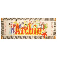 Rare 1960s Nina Ricci Archie Comics Silk Scarf