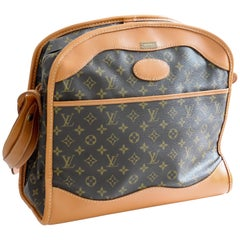 Louis Vuitton Monogram Travel Bag Carry On Shoulder Bag French Co New Old Stock