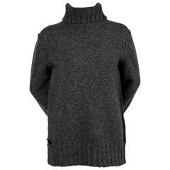 CELINE by PHOBE PHILO 'destroyed' grey Shetland wool sweater