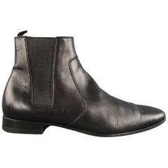 SAINT LAURENT Size 6.5 Black Leather Chelsea Ankle Boots