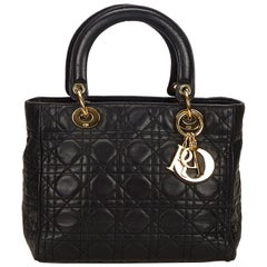 Dior Black Cannage Lady Dior Handbag