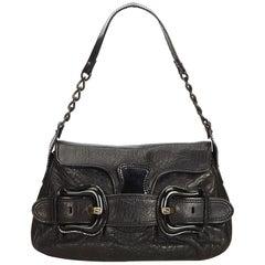 Fendi Black Leather B Bis Bag