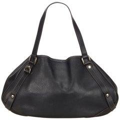 Gucci Black Leather Pelham Tote