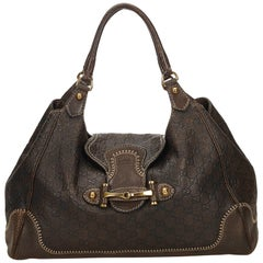 Gucci Brown Guccissima Leather New Pelham Hobo Bag