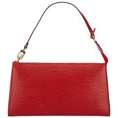 Louis Vuitton Red Epi Pochette Accessoires