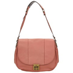 Chloe Pink Leather Elsie Neo Folk Shoulder Bag